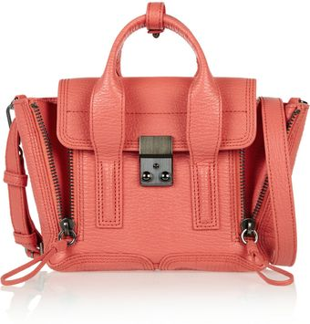 3.1 Phillip Lim The Pashli Small Sharkeffect Leather Trapeze Bag - Lyst