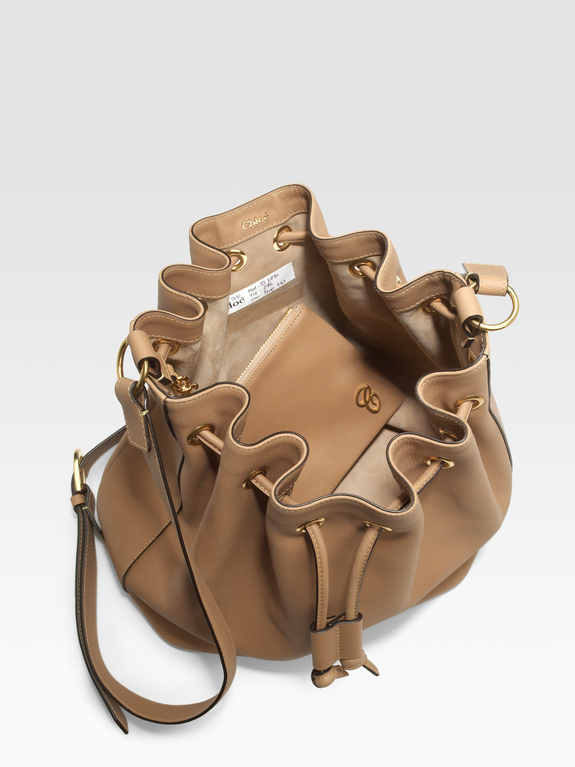 Chlo¨¦ Aurore Bucket Bag in Brown (black) | Lyst