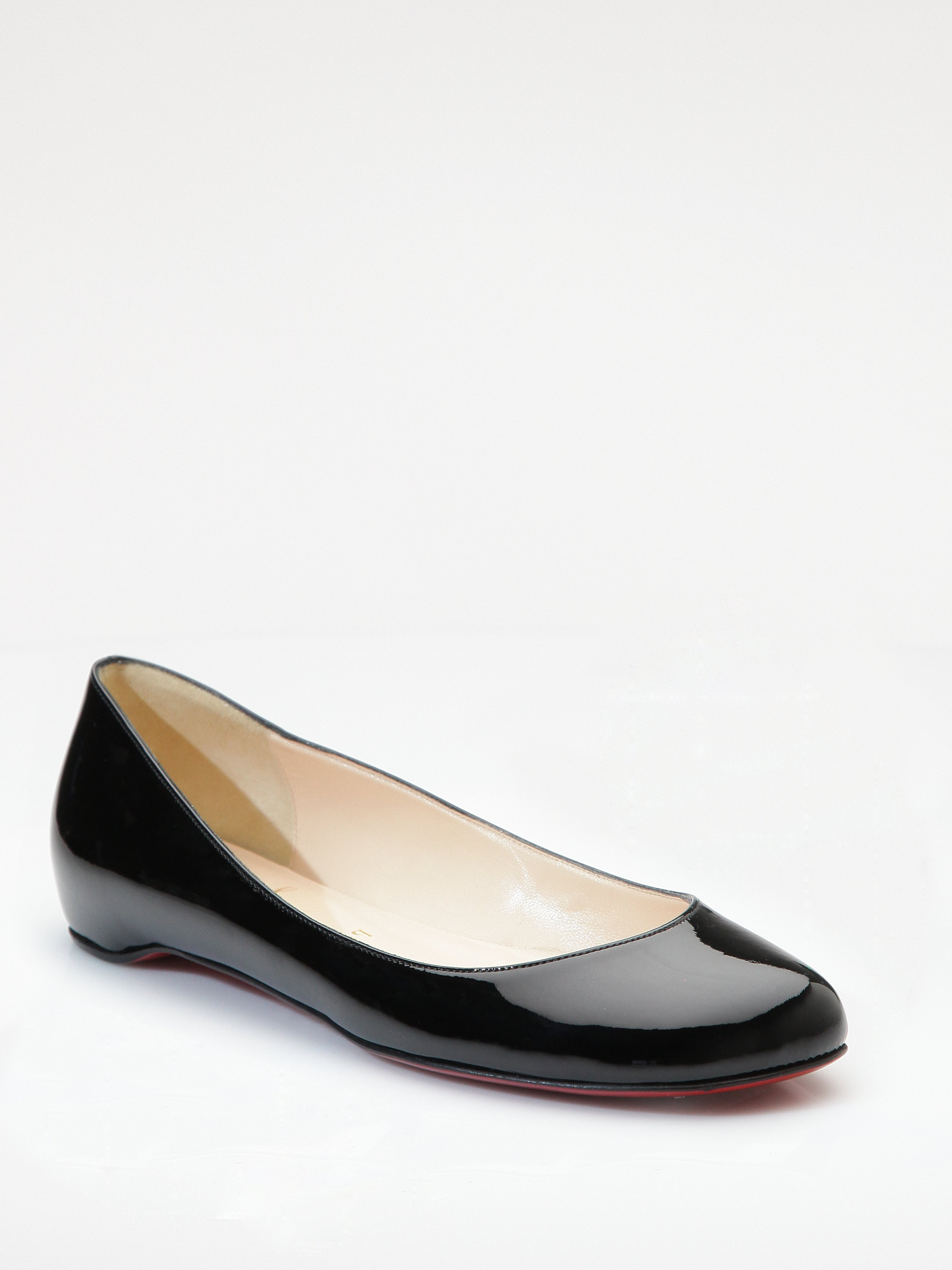 18356ca1edf0 ... sale lyst christian louboutin kobe patent leather flats in black e51f3  a89d5