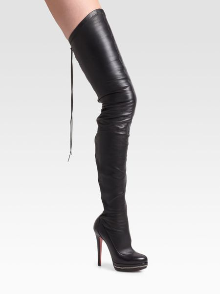 christian louboutin unique thigh high platform boots in