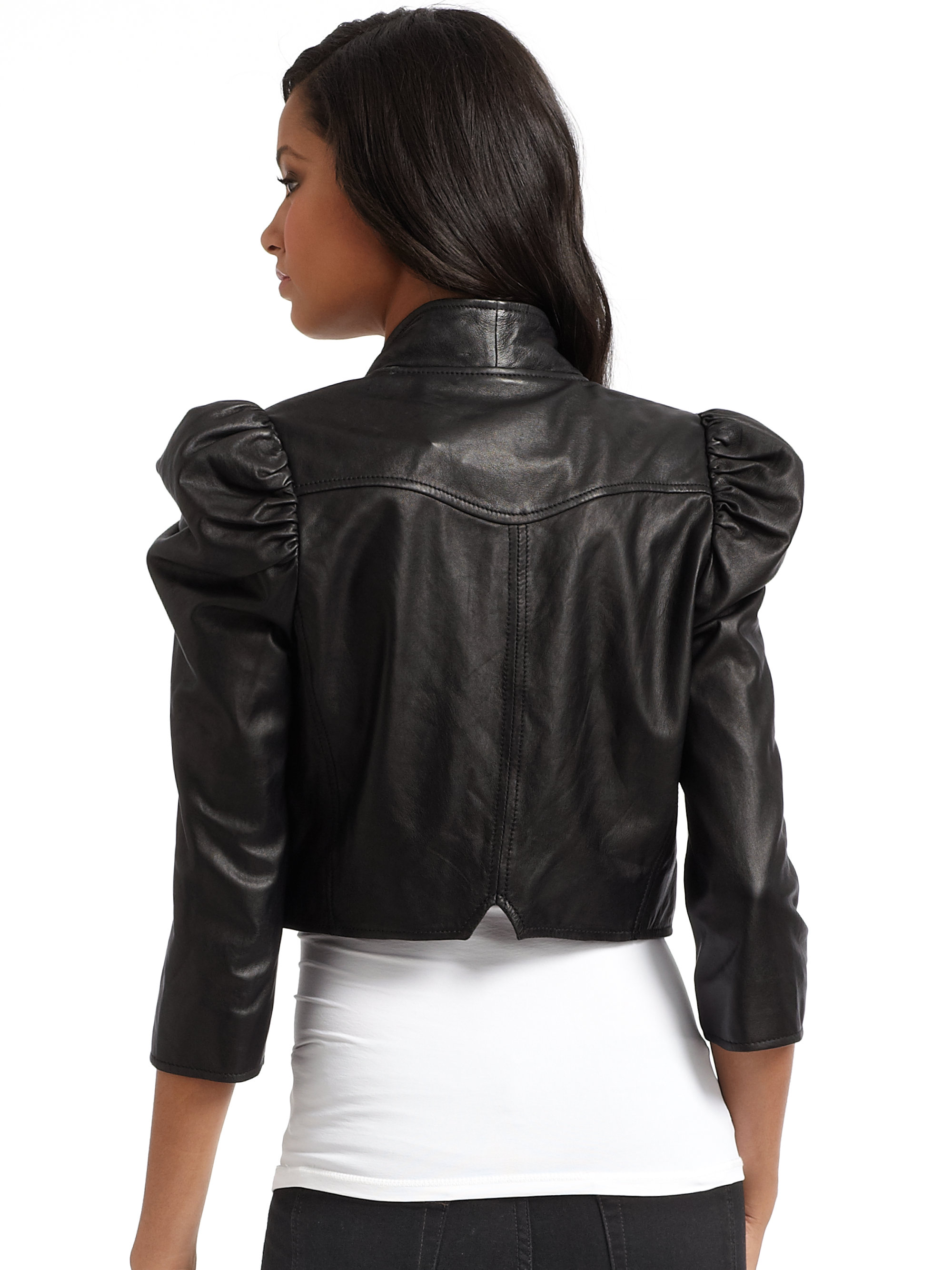 how to say leather jacket in french