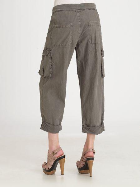 Brilliant Zadig Amp Voltaire  Khaki Eliot Militaire Cropped Cargo Pants  Lyst