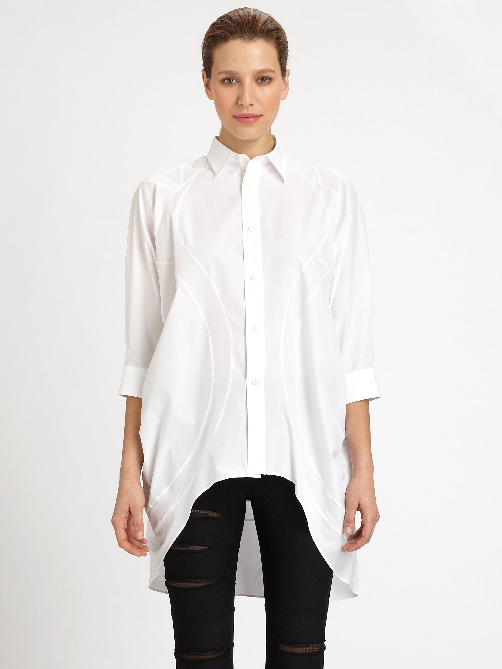 Junya watanabe Oversized Shirt in White | Lyst