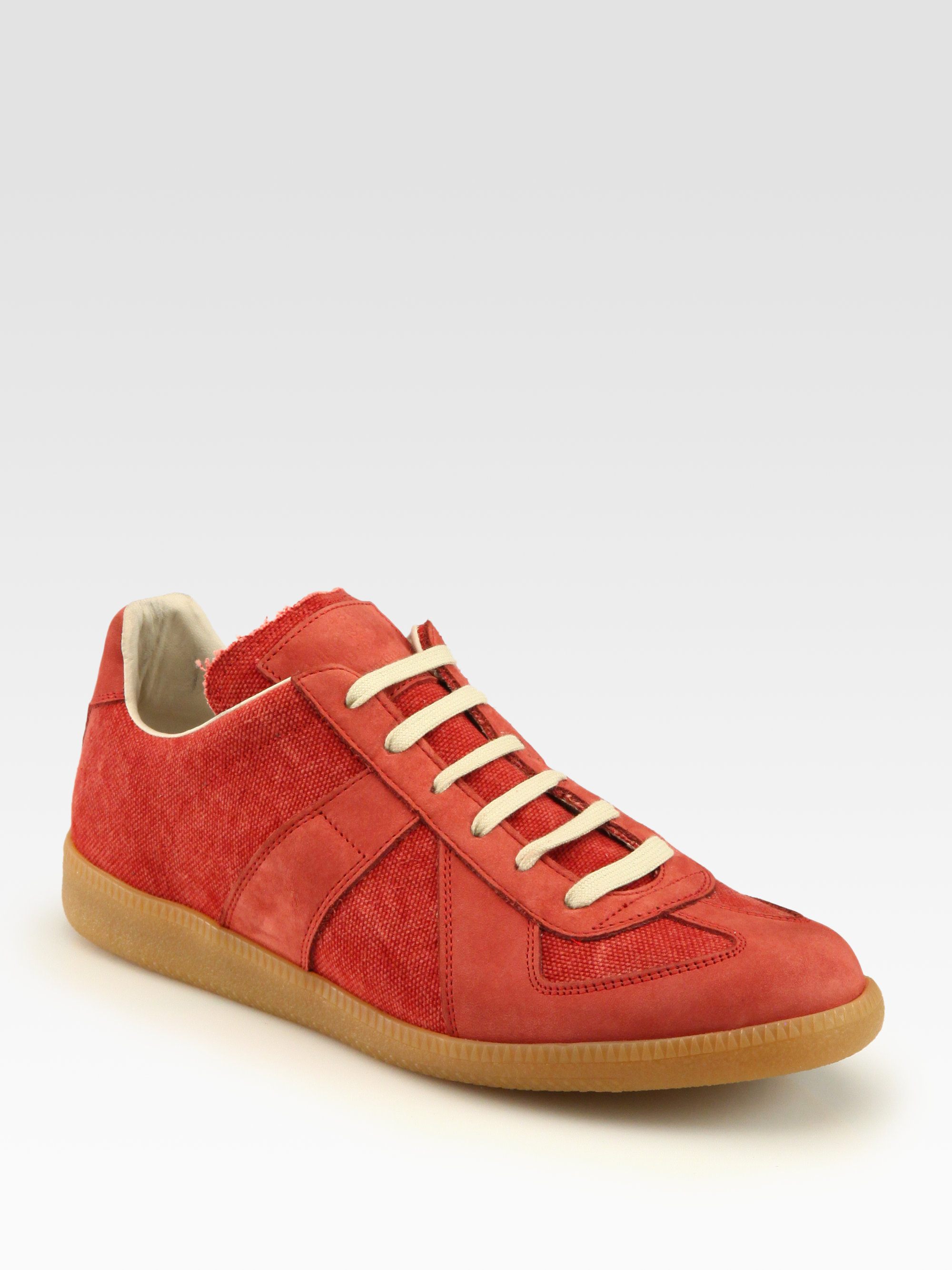 Maison martin margiela replica canvas laceup sneakers in for Replica maison martin margiela