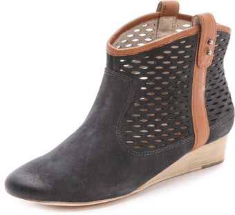 Matt Bernson Ambler Perforated Wedge Booties - Lyst