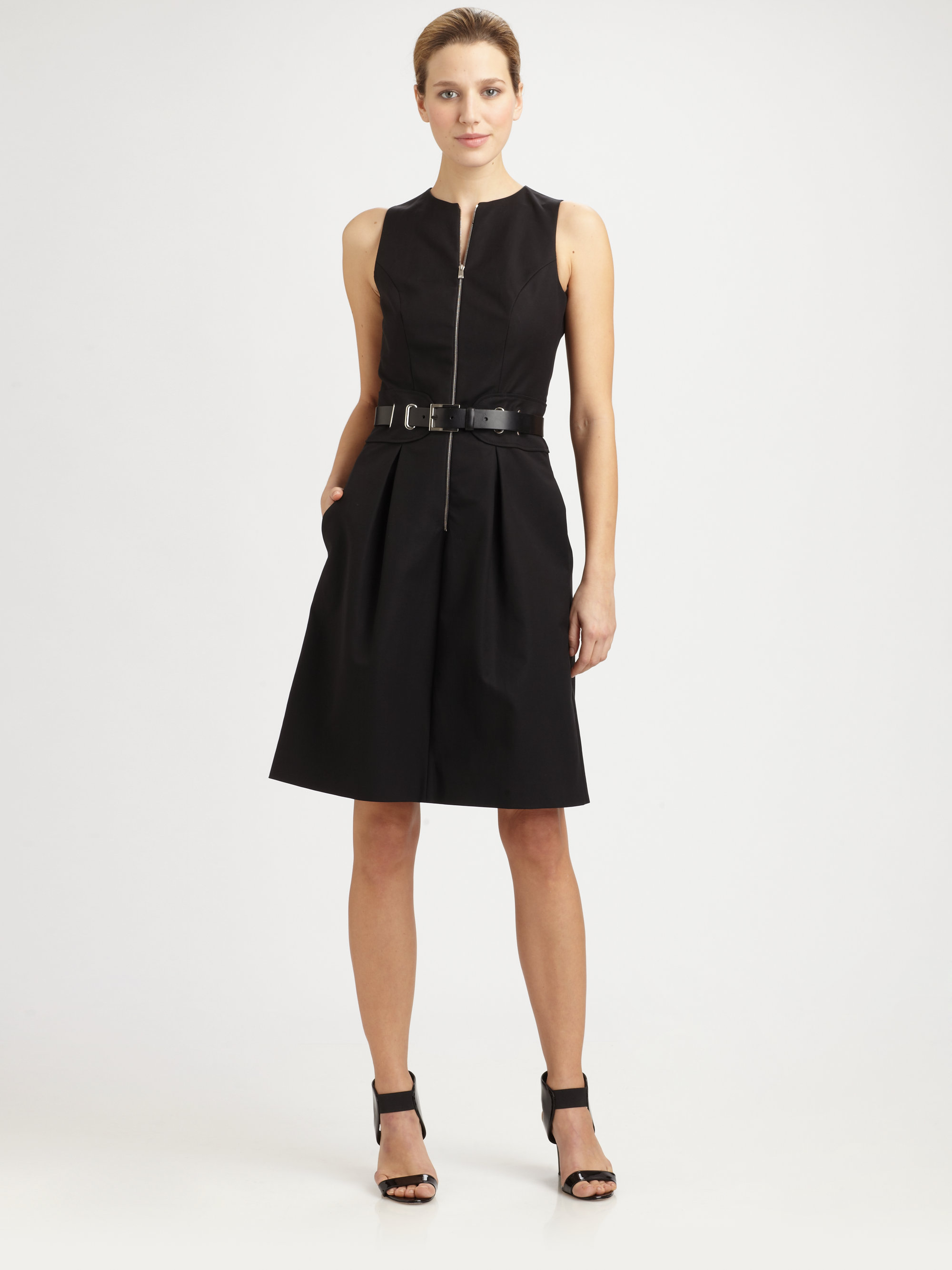 michael kors harness belt bell dress in black lyst