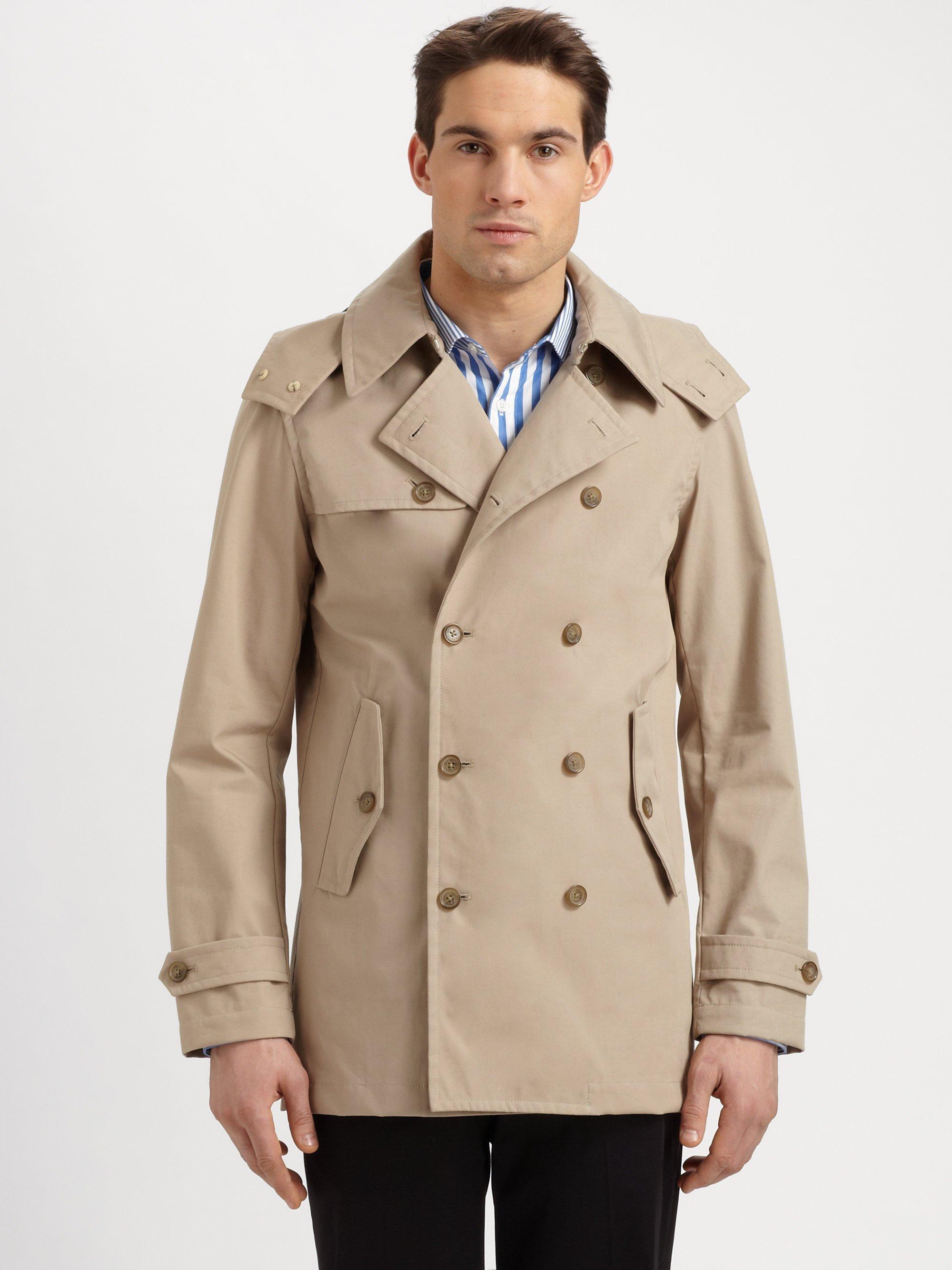 Michael kors Hooded Trenchcoat in Natural for Men | Lyst