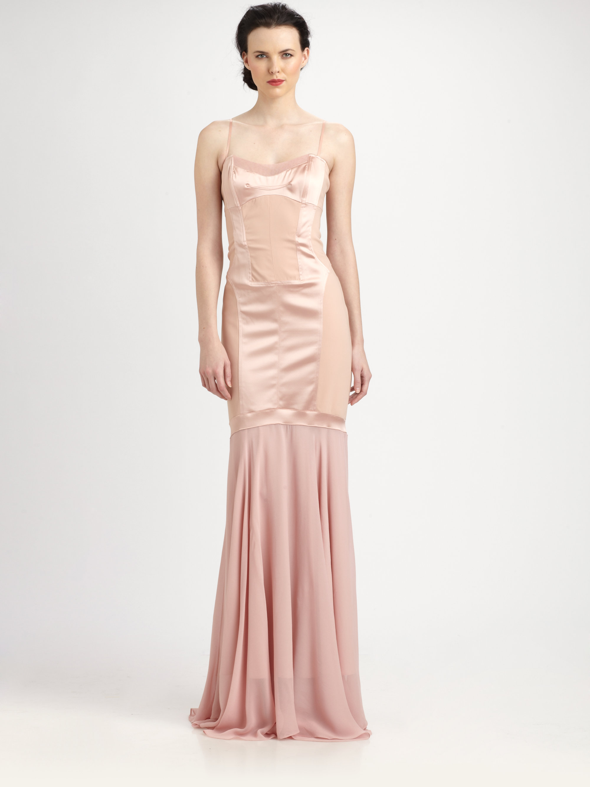 Attractive Nicole Miller Silk Gown Ornament - Images for wedding ...