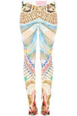 Notify Printed Skinny Trouser - Lyst