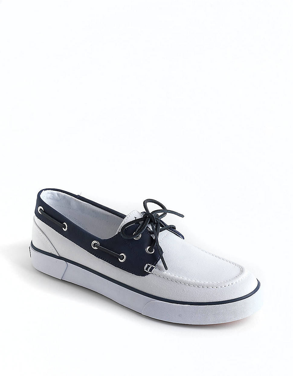 polo ralph rylander canvas and leather boat shoes