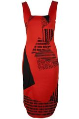 Roland Mouret Anson Trigraphic Blister Dress