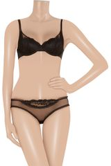 Stella Mccartney Elodie Hopping Lacetrimmed Tulle Briefs in Black - Lyst