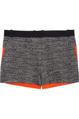 Victoria Beckham Tweed and Stretch Cotton Shorts - Lyst