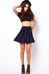 ASOS Collection Asos Skater Skirt in Lace - Lyst