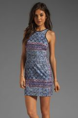 Charles Henry Fitted Tank Dress in Batik Print - Lyst