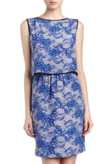 Cut25 By Yigal Azrouël Laceprint Twopiece Illusion Dress - Lyst