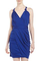 Cut25 By Yigal Azrouël Matte Jersey Draped Dress - Lyst