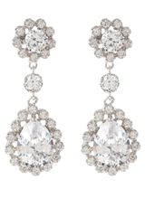 Cz By Kenneth Jay Lane Framed Pear Drop Earrings - Lyst