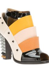Fendi Open Toe Shoe Boot