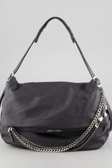 Jimmy Choo Biker Large Hobo Bag - Lyst