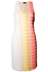 Missoni Sleeveless Textured Knit Dress - Lyst