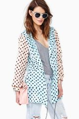 Nasty Gal Chroma Dot Rain Jacket - Lyst