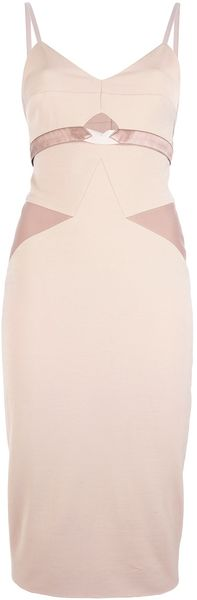 Victoria Beckham Tonal Panel Dress - Lyst