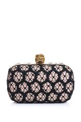 Alexander McQueen Honeycomb Crochet Box Clutch - Lyst