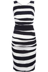 Dolce & Gabbana Striped Silk Dress