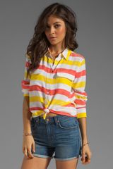 Equipment Cabana Stripe Slim Signature Blouse  - Lyst