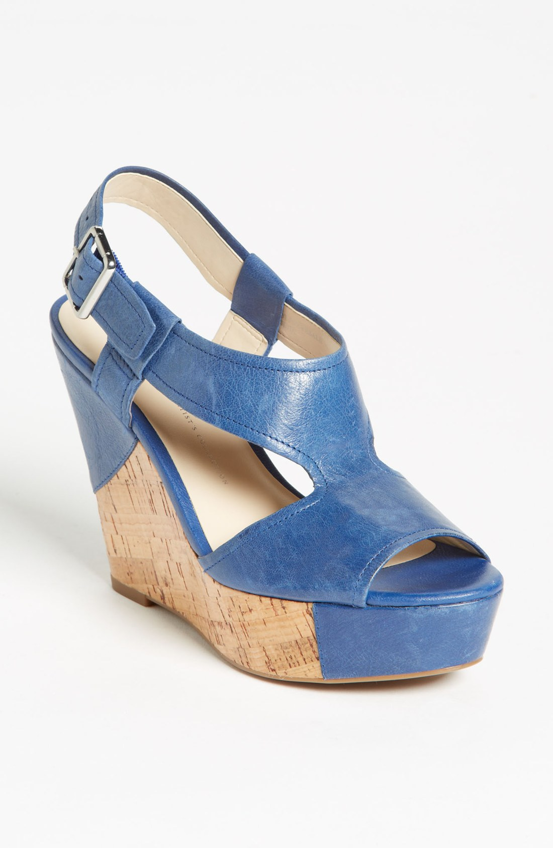 be2c2de84b0 BANK HOLIDAY MONDAY POST BBQ BARGAIN - FRANCO SARTO Blue Xenon Wedge Sandal