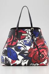 Jimmy Choo Sasha Large Printed Canvas Tote Bag - Lyst