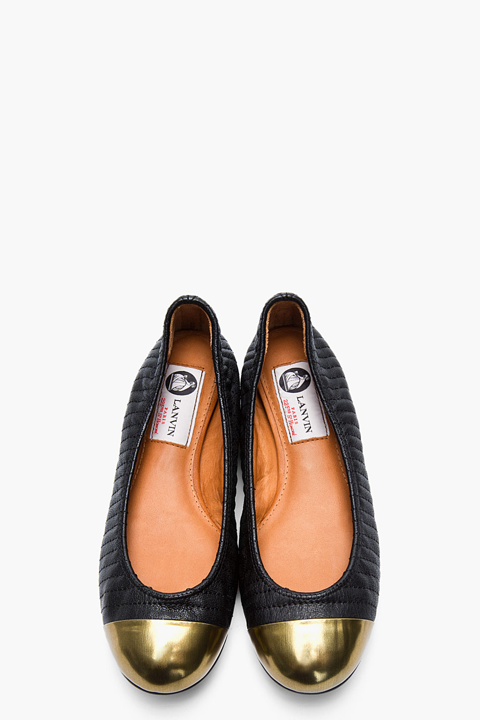 discount real Lanvin Metallic Cap-Toe Flats free shipping pay with paypal free shipping low price fee shipping low shipping fee online FSjdeCwmnz