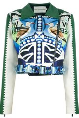 Mary Katrantzou Star Sailor Biker Jacket - Lyst