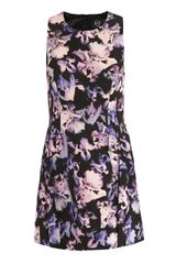 McQ by Alexander McQueen Floating Iris-Print Fitted Dress - Lyst