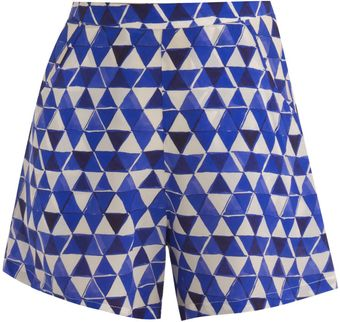 Saloni Block Print Shorts - Lyst