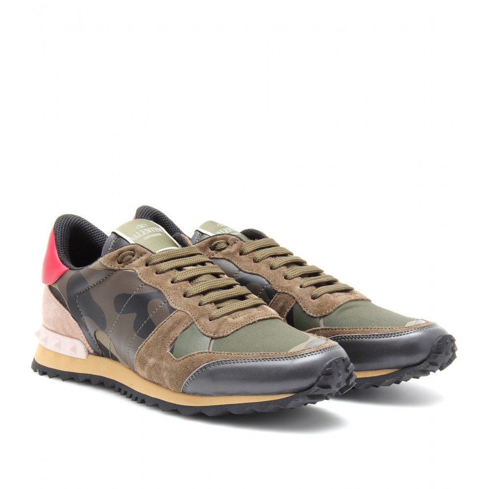 valentino camouflage sneakers in gray lyst. Black Bedroom Furniture Sets. Home Design Ideas