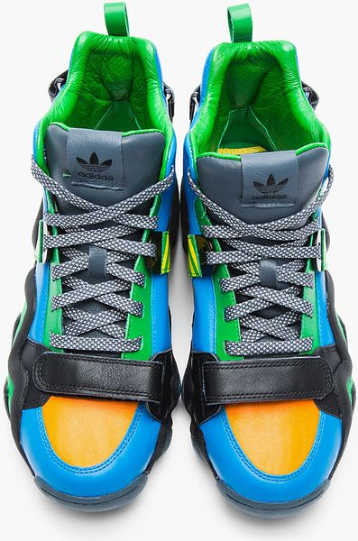 originals x opening ceremony blue and green leather
