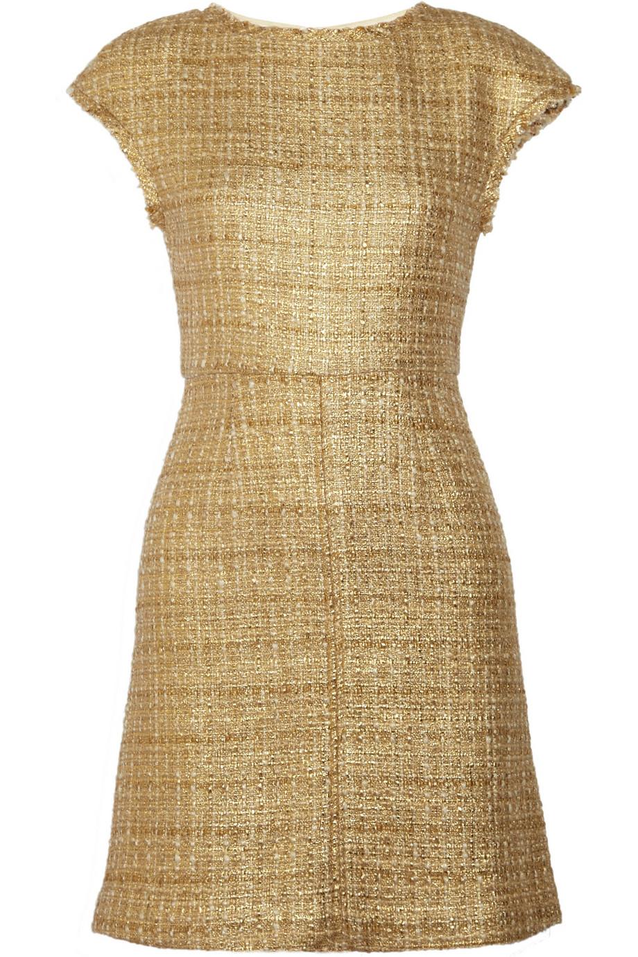 Alice + Olivia Elsie Tweed Dress in Metallic - Lyst 1853e97d6