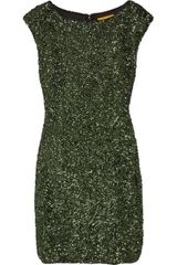 Alice + Olivia Sequined Satin Mini Dress - Lyst