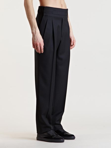 Balenciaga Mens High Waist Pants In Black For Men | Lyst