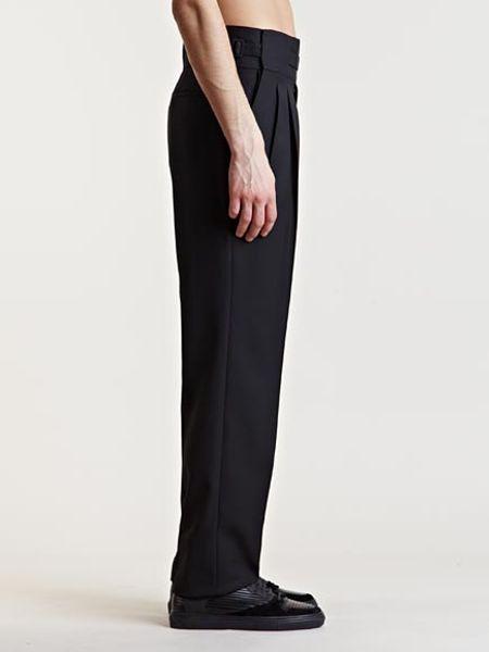 Balenciaga Mens High Waist Pants In Black For Men Lyst