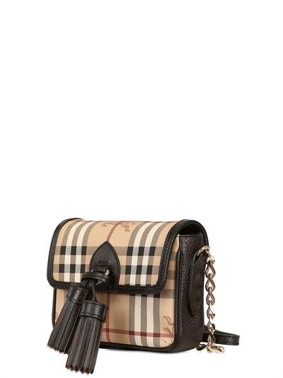 3ffb7b384615 Burberry Berkeley Haymarket Pvc Shoulder Bag in Natural - Lyst