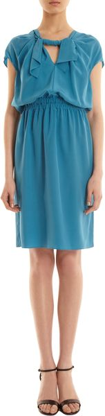 Derek Lam Twist Front Cap Sleeve Dress - Lyst
