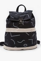 Dusen Dusen Satchel Backpack in Squiggles - Lyst