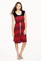 J.Crew Stripe Drawstring Dress - Lyst