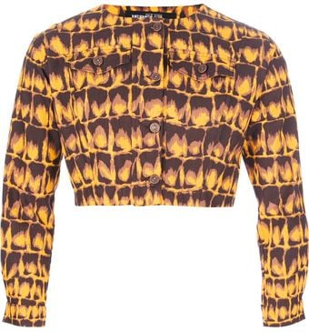 Jeremy Scott Cropped Jacket - Lyst