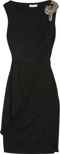 Matthew Williamson Embellished Jersey Dress - Lyst