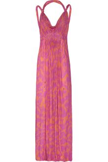 Matthew Williamson Leopard-Print Cotton-Blend Jersey Maxi Dress - Lyst