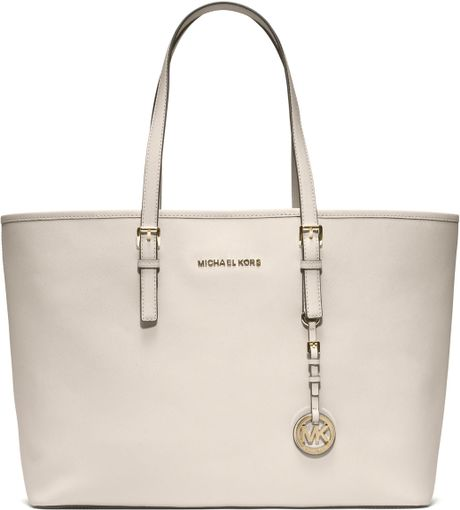 Bolsa Michael Kors Jet Set Saffiano : Bolsa michael kors jet set travel medium tote